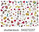 happy valentines day pattern.... | Shutterstock .eps vector #543272257