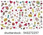 happy valentines day pattern.... | Shutterstock .eps vector #543272257