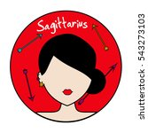 sagittarius zodiac sign. icon... | Shutterstock .eps vector #543273103