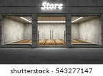 Modern Empty Elite Store Front...