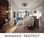 living room in style of... | Shutterstock . vector #543279127