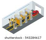car running through automatic... | Shutterstock . vector #543284617
