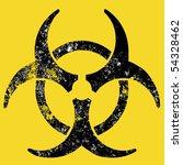 grunge style biohazard sign ... | Shutterstock . vector #54328462