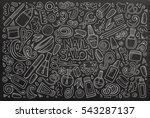 vector hand drawn doodle... | Shutterstock .eps vector #543287137