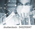 handsome scientist making... | Shutterstock . vector #543293047