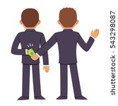 corruption and bribery concept. ... | Shutterstock .eps vector #543298087