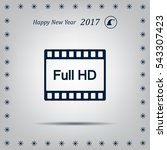 full hd video icon  vector... | Shutterstock .eps vector #543307423