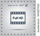 full hd video icon  vector...   Shutterstock .eps vector #543307423