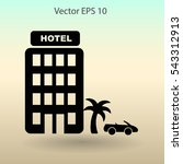 hotel vector illustration | Shutterstock .eps vector #543312913