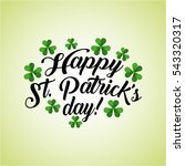 saint patrick's day card with... | Shutterstock .eps vector #543320317