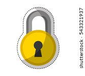 padlock secure isolated icon... | Shutterstock .eps vector #543321937