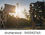 Basketball Players Playing...