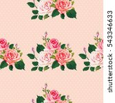 seamless floral pattern with... | Shutterstock .eps vector #543346633
