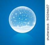 christmas snow globe isolated... | Shutterstock .eps vector #543346657