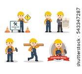 construction worker set...   Shutterstock .eps vector #543347287