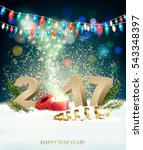 happy new year 2017 background... | Shutterstock .eps vector #543348397