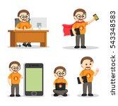 nerd geek people set | Shutterstock .eps vector #543348583