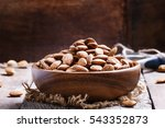raw peeled almond  vintage... | Shutterstock . vector #543352873