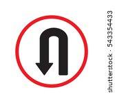 u turn left direction sign... | Shutterstock .eps vector #543354433