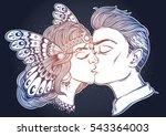 hand drawn beautiful artwork of ... | Shutterstock .eps vector #543364003