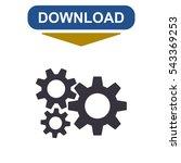 gear icon vector flat design... | Shutterstock .eps vector #543369253