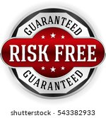 red risk free badge  button... | Shutterstock .eps vector #543382933
