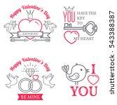 set of valentine's day... | Shutterstock .eps vector #543388387