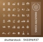 industry icon set vector | Shutterstock .eps vector #543396937