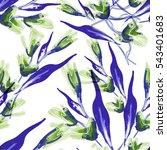 floral seamless pattern. raster ... | Shutterstock . vector #543401683