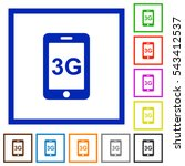 third gereration mobile network ... | Shutterstock .eps vector #543412537