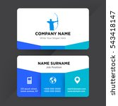 template of business card for... | Shutterstock .eps vector #543418147
