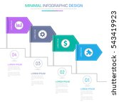 flag infographic elements with...