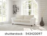 white room with sofa and green... | Shutterstock . vector #543420097