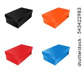 Four Shoe Boxes Black  Red ...