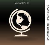 flat globe icon.   Shutterstock .eps vector #543436933