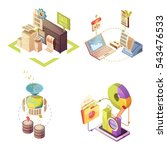 data analysis isometric... | Shutterstock .eps vector #543476533