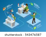 digital health isometric... | Shutterstock .eps vector #543476587