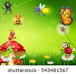 cartoon small insect with... | Shutterstock .eps vector #543481567
