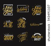 hello new year 2017  happy new... | Shutterstock .eps vector #543491107
