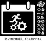 running worker calendar day...   Shutterstock .eps vector #543504463