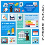 elections and voting flat... | Shutterstock . vector #543505693