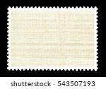 vintage blank postage stamp on...   Shutterstock . vector #543507193