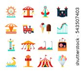 amusement park for children... | Shutterstock . vector #543507403