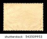 vintage blank postage stamp on... | Shutterstock . vector #543509953