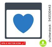 favourite heart calendar page... | Shutterstock .eps vector #543530443