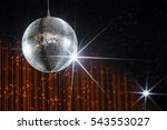 party disco ball with stars in... | Shutterstock . vector #543553027
