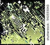 complex pixel pattern... | Shutterstock .eps vector #543555043