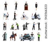 police people in office and... | Shutterstock . vector #543566323