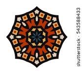 circular background. oriental...   Shutterstock .eps vector #543588433