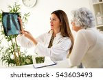 doctor and patient discussing... | Shutterstock . vector #543603493